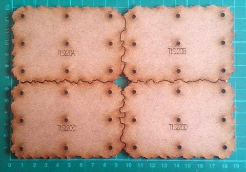 Bat Bases- 20cm grid, half-size bases- On sale 20% off!