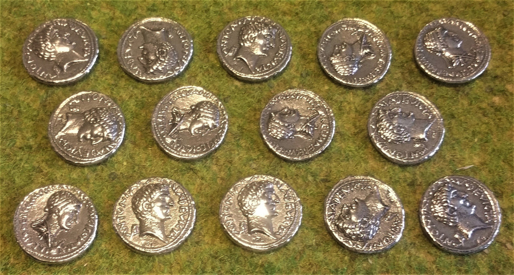 Victory Medals - replica silver denarii of Antony and Cleopatra