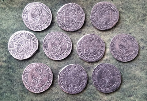 Victory Medals - Charles I Tower Mint sixpence