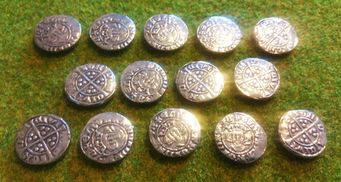 Victory Medals - replica Edward I silver pennies