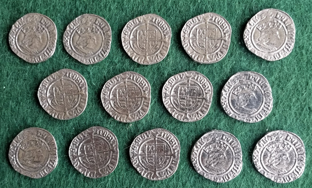 Victory Medals - replica Henry VII silver pennies