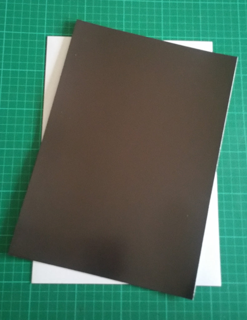 A4 self adhesive magnetic sheet for basing- light weight, 0.4mm thick