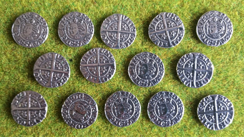 Victory Medals - replica Robert the Bruce silver penny