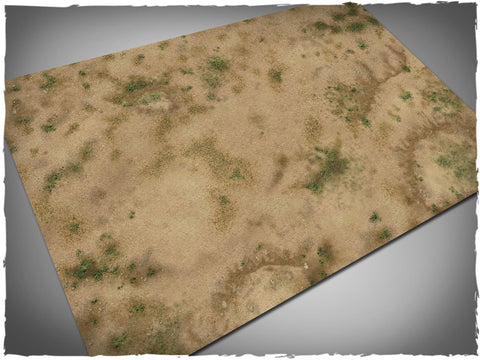 Savanna design battle mat, 6' x 4', 15cm cross-grid