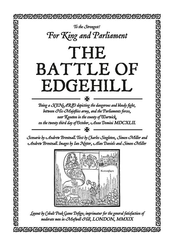 TtS! For King and Parliament - Battle of Edgehill scenario