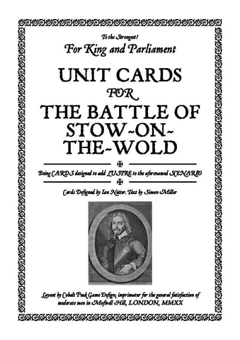 TtS! For King and Parliament - Battle of Stow-on-the-Wold unit cards