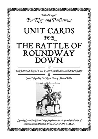 TtS! For King and Parliament - Battle of Roundway Down unit cards