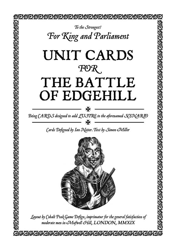 TtS! For King and Parliament - Battle of Edgehill unit cards