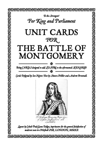 TtS! For King and Parliament - Battle of Montgomery unit cards