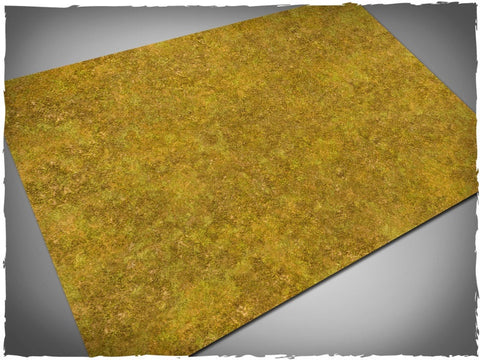 Sagebrush steppe design battle mat, 4' x 3', 10cm cross grid