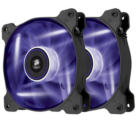 Air Series LED AF120 Quiet Edition - Case fan - 120 mm - purple (pack of 2 )