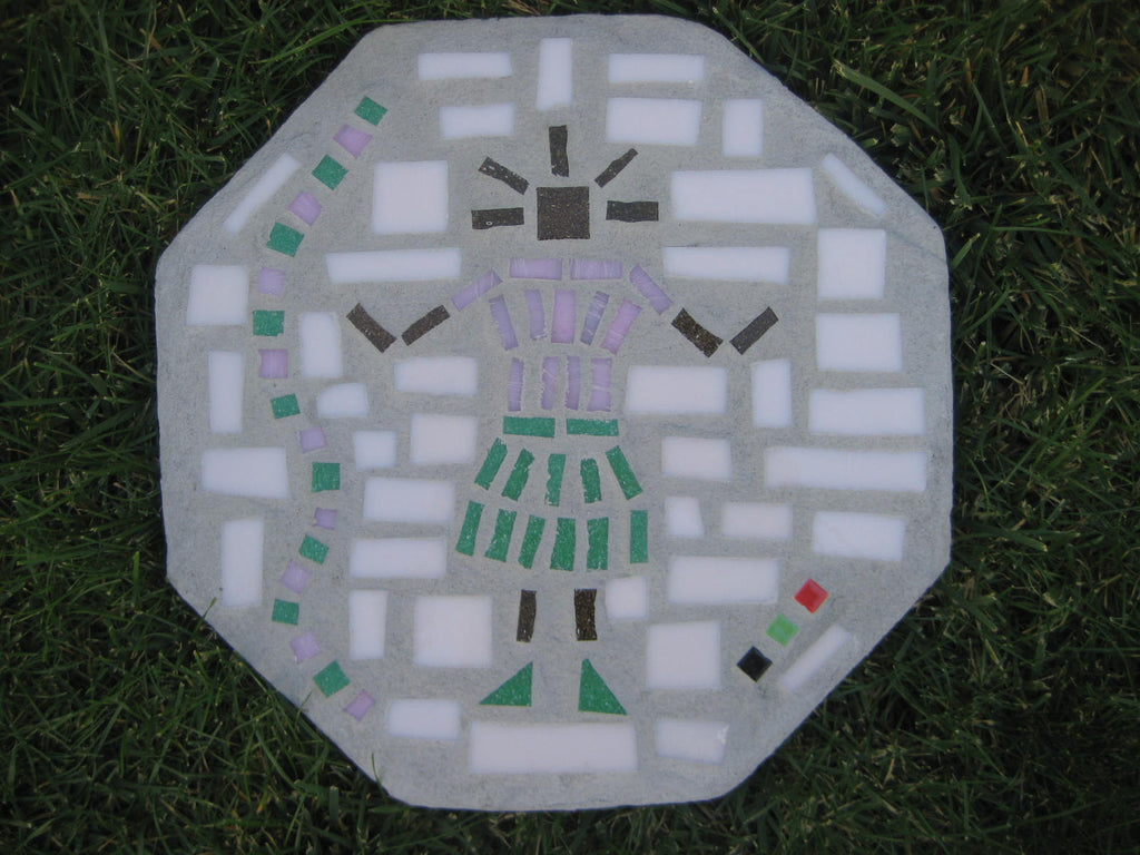 Mosaic Octagon Paver Baby Girl