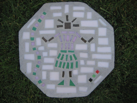 Baby Girl Pink & Green Octagon Paver