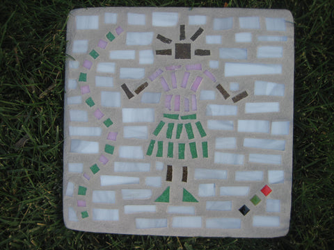 Baby Girl Pink & Green Backyard Paver Designs