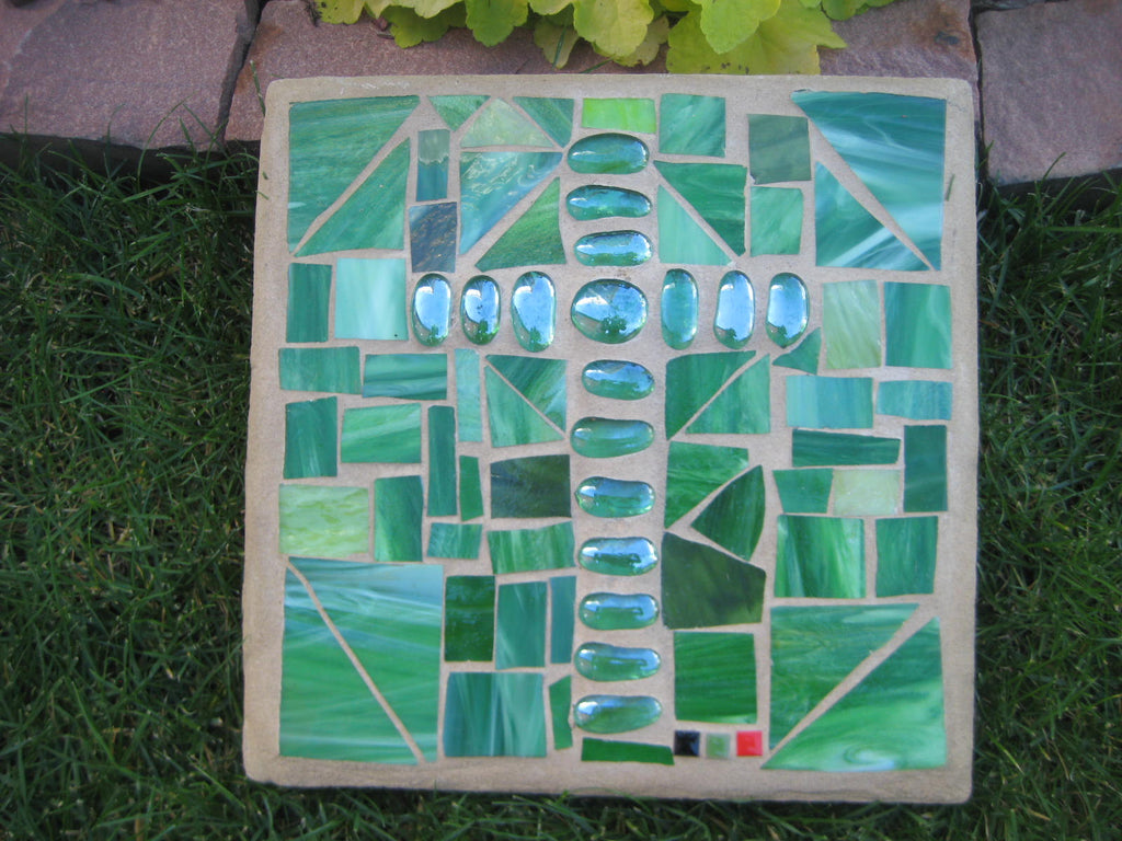 Landscape Green Paver with Green Cross