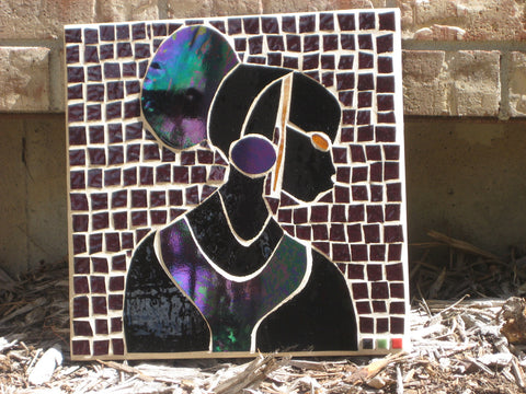 Outdoor Mosaic Art African Purple Princess