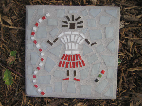 Backyard Mosaic - Red and White Baby Girl