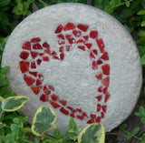 Adinkra Heart Commercial Grade Tile Red