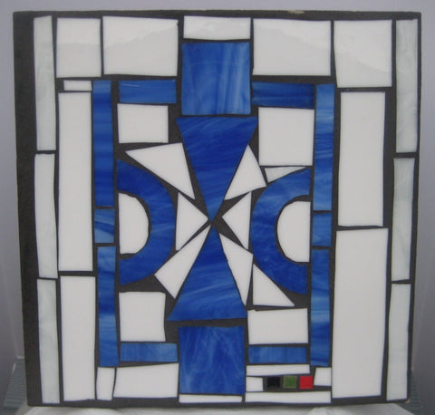 Blue House of Peace - Decorative Patio Tile