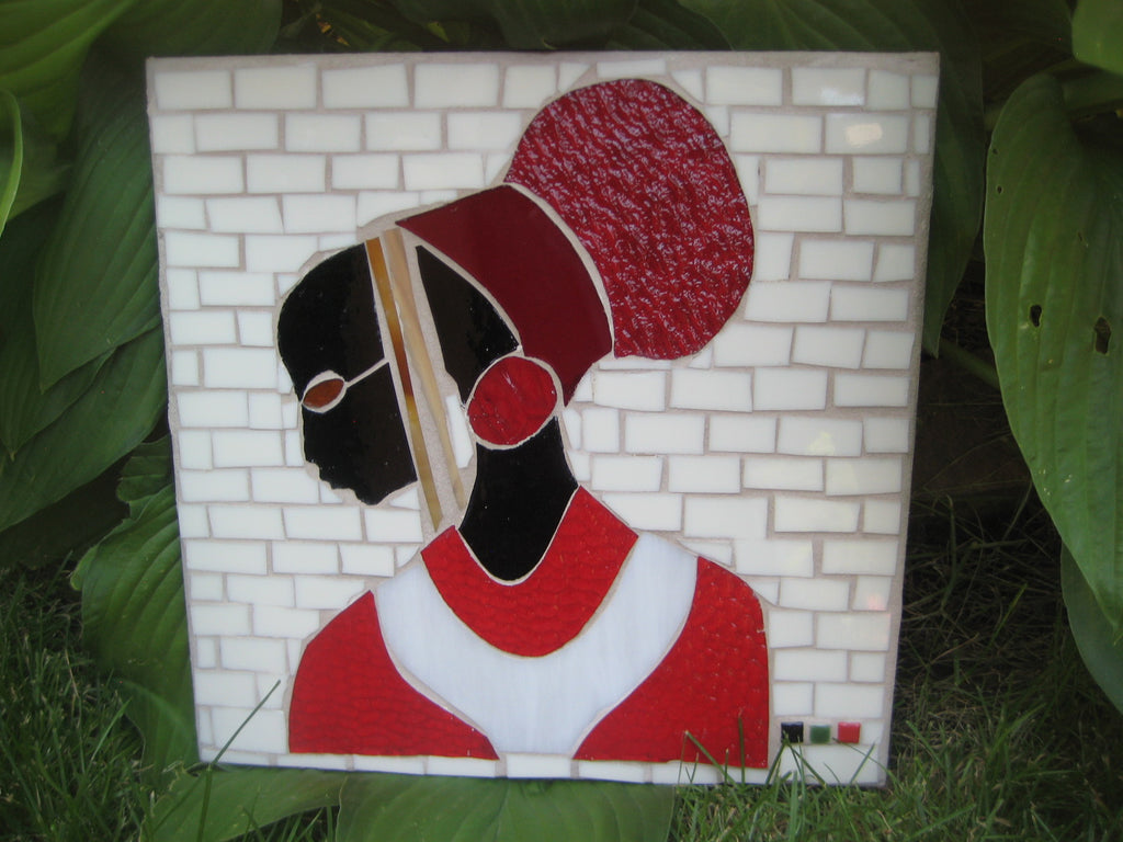 Yard Art African-American Princess Red & White