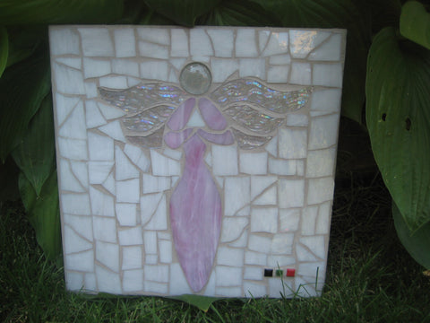 Outdoor Mosaic Pretty in Pink Angel