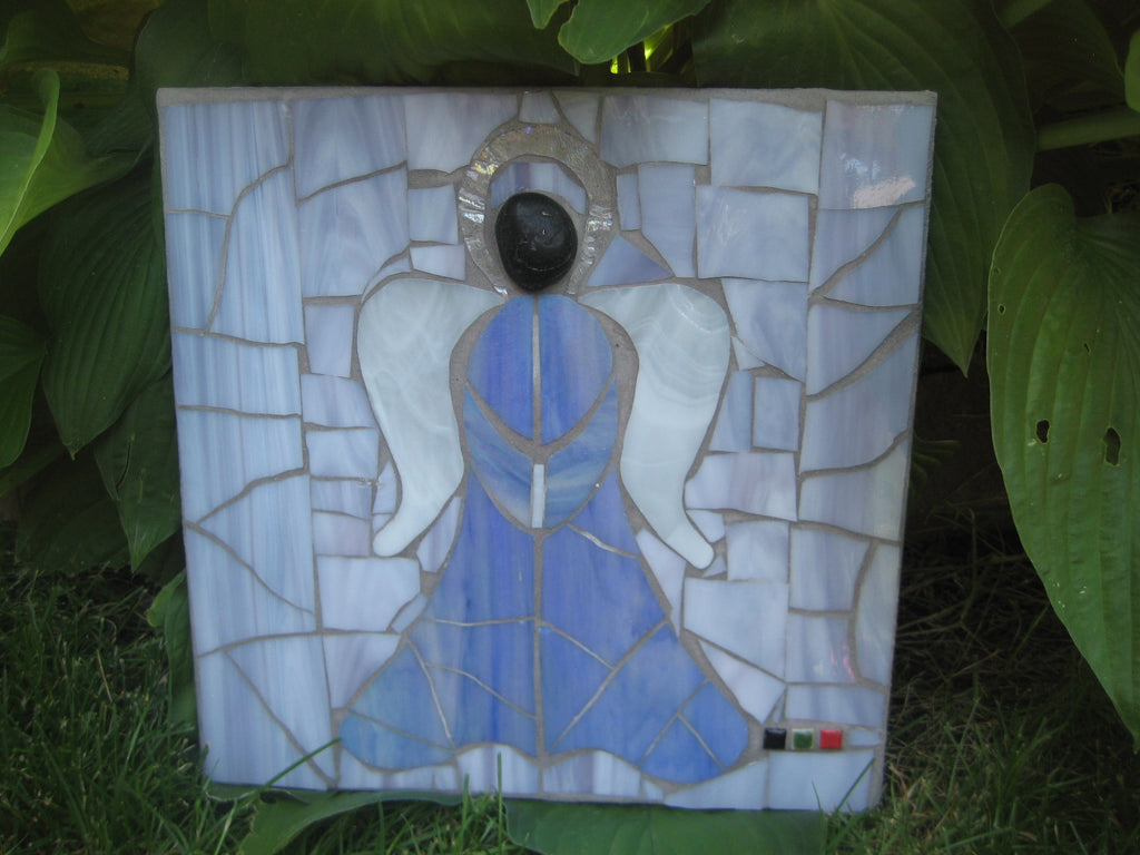Blue Mosaic Protective Angel