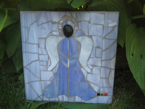 Blue Mosaic Angel