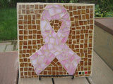 Pink Ribbon - Breast Cancer Awareness Decorative Backyard Tile