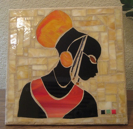 African Princess in Orange Paver for Garden