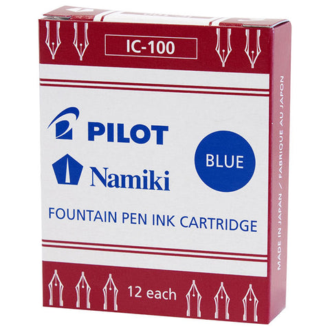 Namiki Fountain Ink Cartridge -12 crtrg/pk (Blue)
