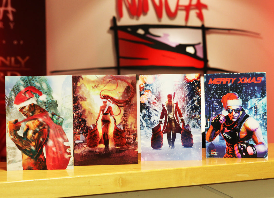 Ninja Theory Vintage Art Christmas Cards - Pack of 6
