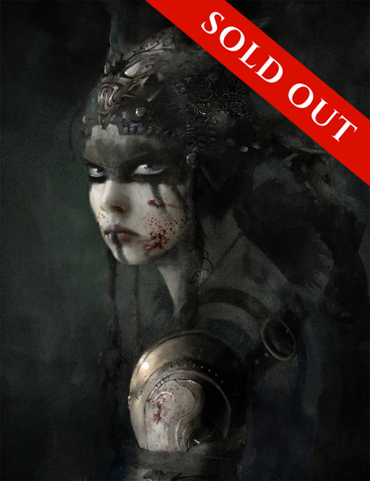 SOLD OUT - Hellblade Senua Portrait Limited Edition Print