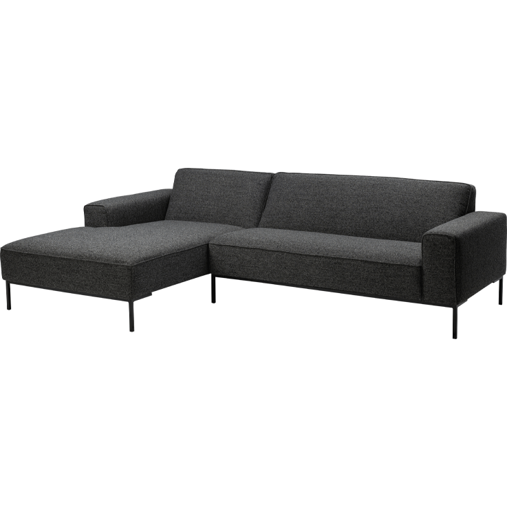 MOON Rec/2er Sofa anthrazit