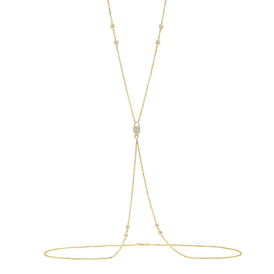 Signature Lock Body Chain Diamond Bezel