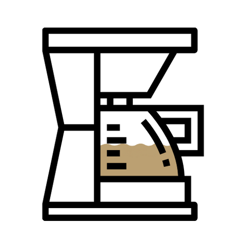 Icon of a drip coffee machine