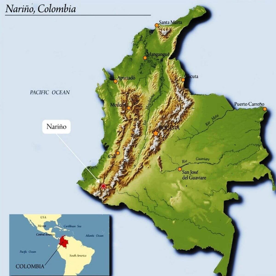 Map of the Narino area