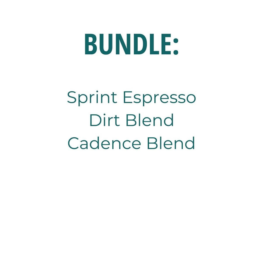 Listing of products: Dirt Blend, Sprint Espresso, Cadence Blend