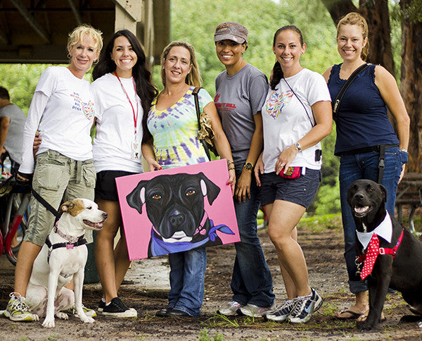 Big Hearts for Big Dogs rescue volunteers