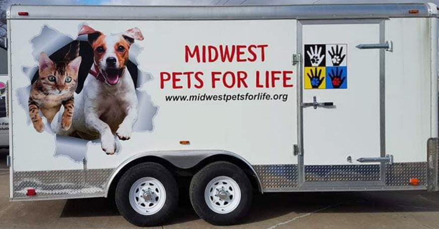 Photograph of Midlife Pets for Life's truck