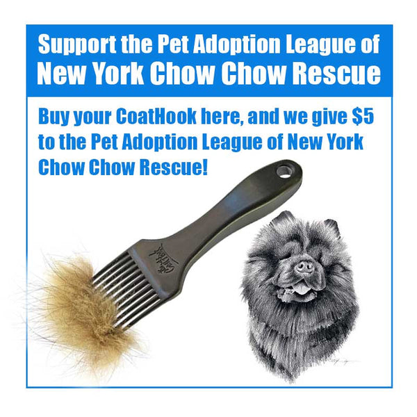 A CoatHook to Benefit <br />Pet Adoption League of </br>New York Chow Chow Rescue