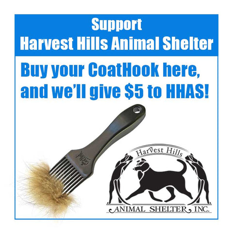 A CoatHook to Benefit <br />Harvest Hills Animal Shelter
