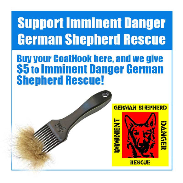 A CoatHook to Benefit <br />Imminent Danger German Shepherd Rescue