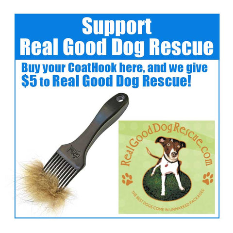 A CoatHook to Benefit <br />Real Good Dog Rescue
