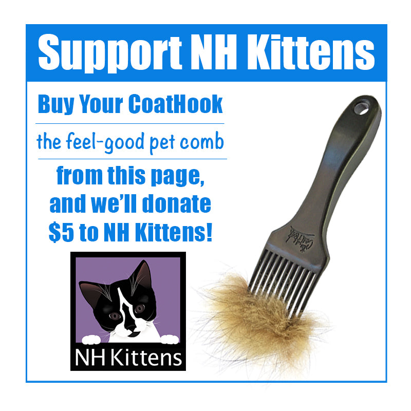 A CoatHook to Benefit <br />NH Kittens