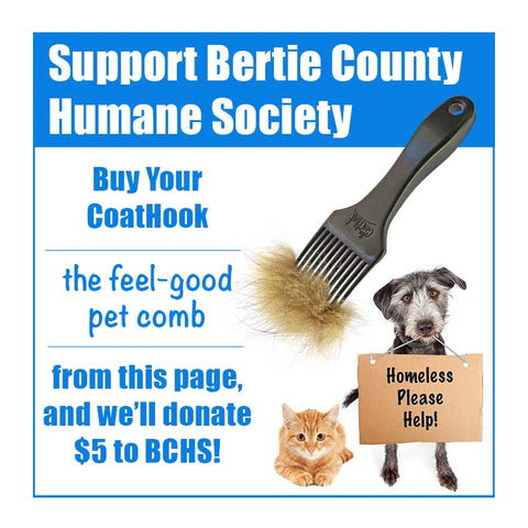 A CoatHook to Benefit <br />Bertie County Humane Society