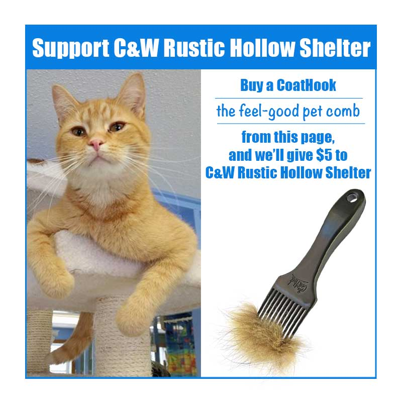 A CoatHook to Benefit <br />C&W Rustic Hollow Shelter