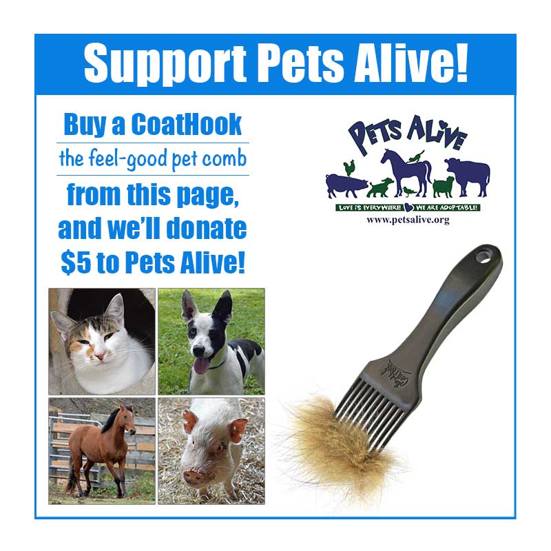 A CoatHook to Benefit <br />Pets Alive