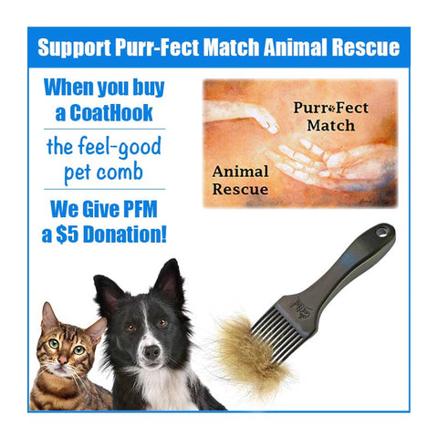 A CoatHook to Benefit <br />Purr-fect Match Animal Rescue<br /><br />
