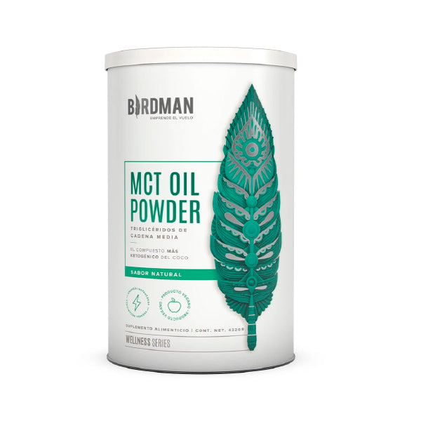 MCT Oil Powder Natural- Triglicéridos De Cadena Media 432gr/ Birdman