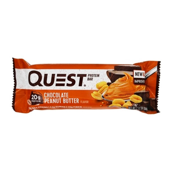 Barra de proteína chocolate y peanut butter 60g/ Quest